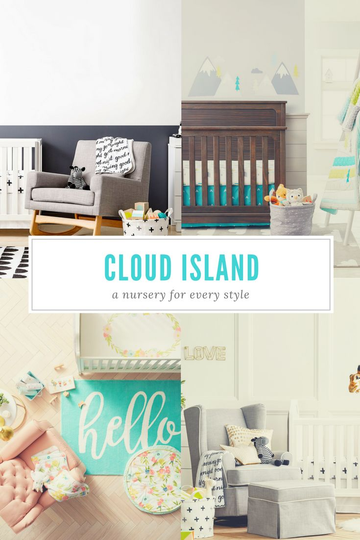 Cloud Island features 3 different themes that include everything from nursery décor and bedding, to bath and layette products! There are nearly 500 products that make up the  Cloud Island collection, meaning you have the opportunity to mix & match patterns and accessories to create your own unique nursery theme. (affiliate)