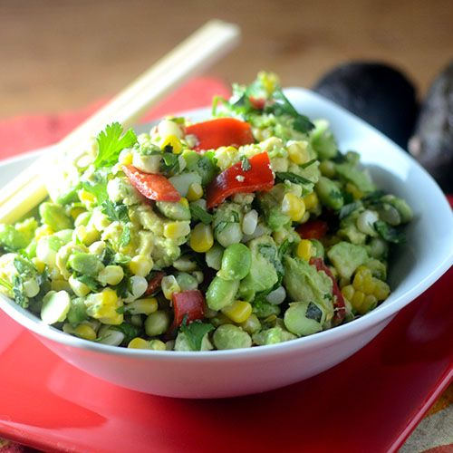 Edamame Avocado Salad - Feed Your Soul Too