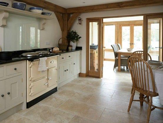 Cottage   Kitchen   open plan areas interconnecting - Border Oak