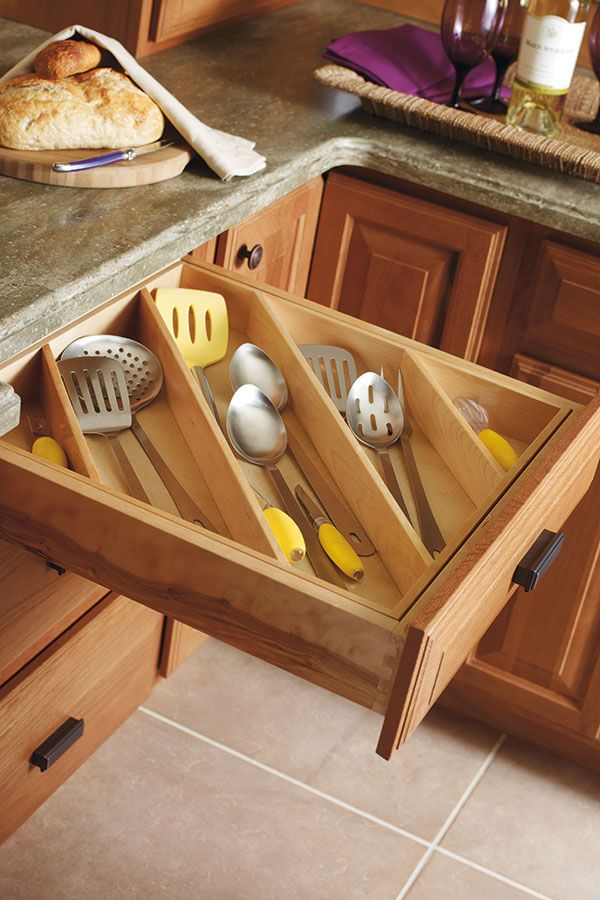 Diamond At Loweu0027s Cabinets   Cooking Utensil Divider