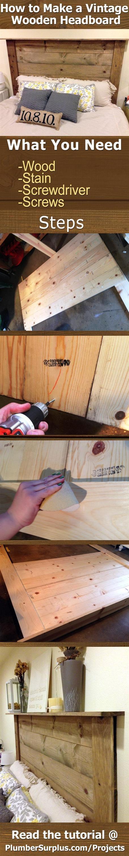 How to Make a Vintage Wood Headboard at PlumberSurplus.com