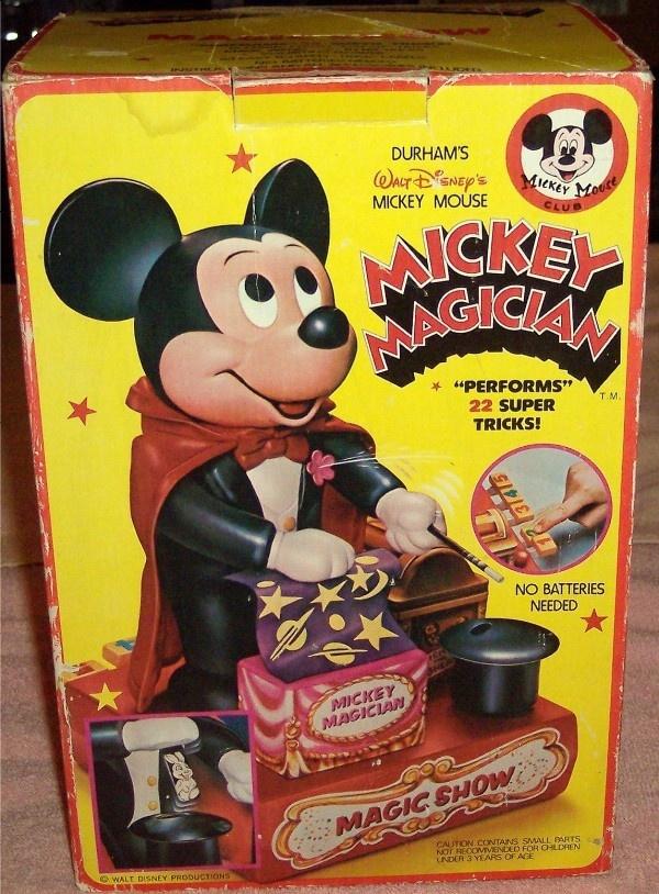 DURHAM: 1976 Mickey Magician #Vintage #Toys