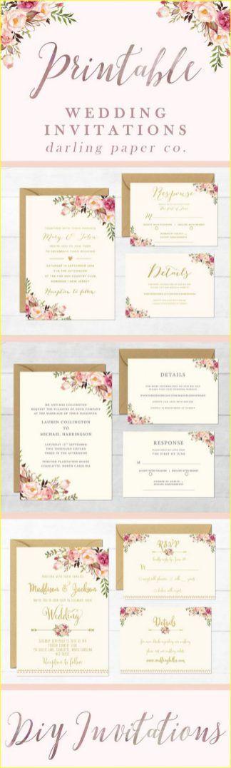 Diy weddings invitations templates 00146