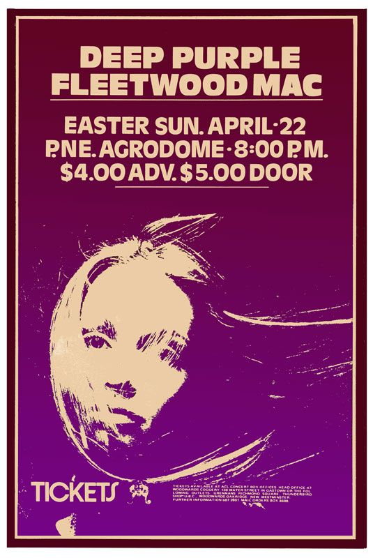 Bob Masse 70's Deep-Purple-Fleetwood Mac Poster-print-co.jpg (535×800)