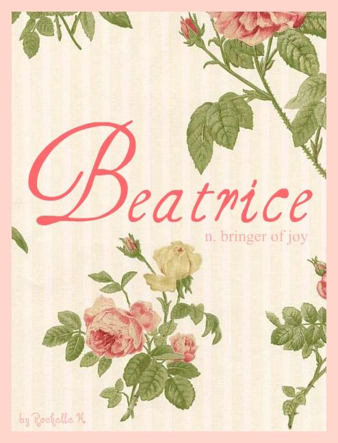 Baby Girl Name: Beatrice. Meaning: Bringer of Joy. Origin: French; English. http://www.pinterest.com/vintagedaydream/baby-names/