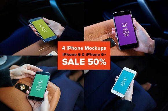 4 iPhone Mockups by Fomochkin's Shop on @creativemarket