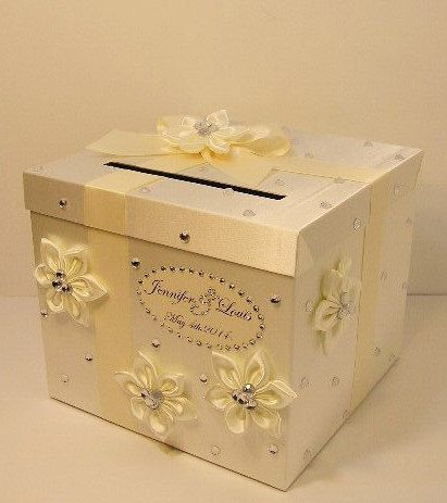 Wedding Card Box Ivory Gift Money Holder Customize Made To Order