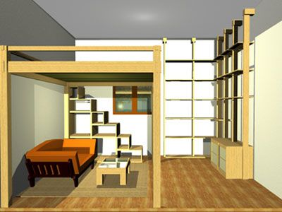 Bed Yen  bed yen sliping loft , fixed height, materials solid wood