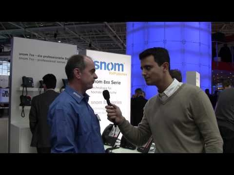 Alexis Argent, Sales Manager of VoIPon Solutions speaks to Rudi Stahl, VP of Sales at snom @CeBIT 2013 on snom interoperability partnerships and Microsoft Lync development.