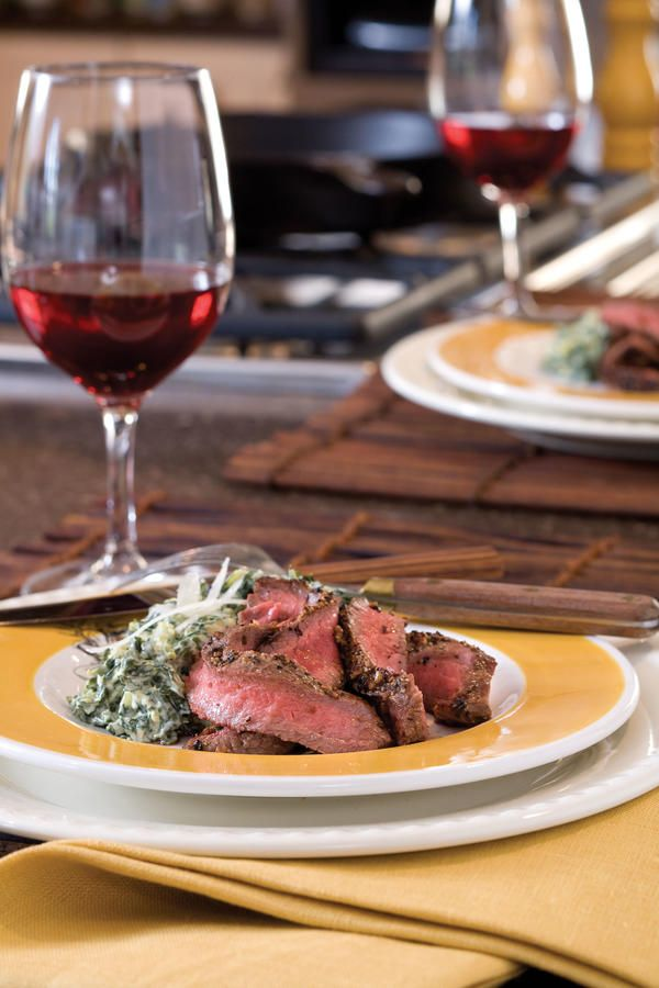 Pan Seared Flat Iron Steak - You Got Your First Cast-Iron Skillet. So, What's For Supper? - Southernliving. Recipe: Pan Seared Flat Iron Steak  The trick to a great crust on this flat iron steak is to use a very hot skillet
