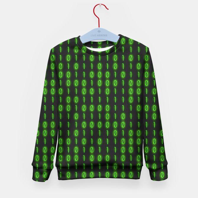 Binary Code Pattern Sudadera para niños