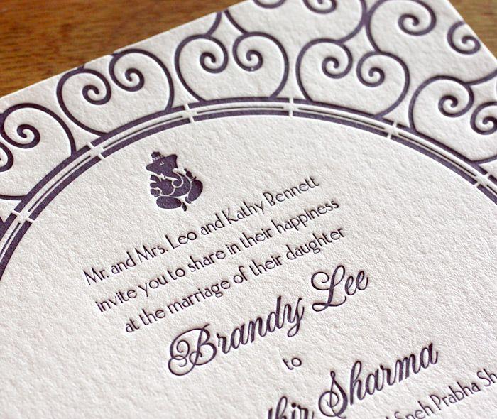 Lola Letterpress Wedding Invitation By Invitations Ajalon