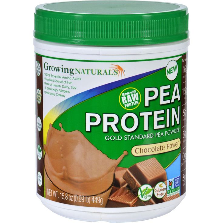 Gold Standard Raw Yellow Pea Protein Powder The first raw USA and Canadian grown yellow peas, are synergistically combined with Growing Natural's patented water extraction process. This delicious, lig