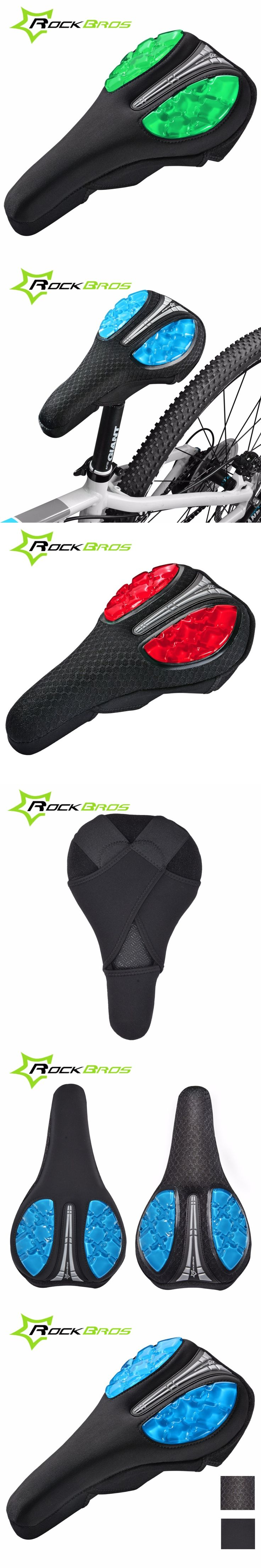 ROCKBROS MTB Bicycle Front Saddle Cover Mountain Road Bike Soft Comfortable Cushion Saddle Seat 3 Colors Outdoor Cycling Parts