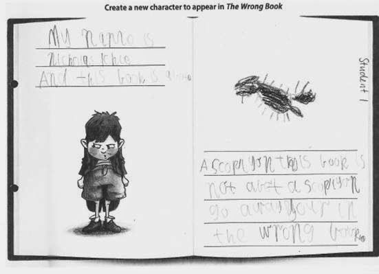 """Australian Curriculum: English Foundation learning sequence for create narratives using """"The Wrong Book"""" by Nick Bland."""