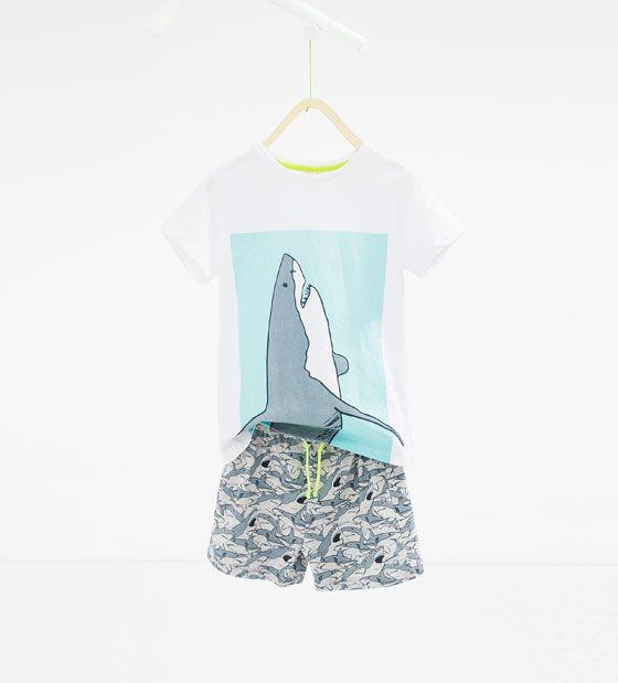 ZARA - NIÑOS - Pijama tiburón
