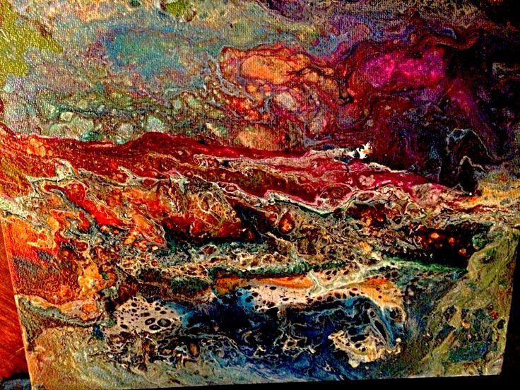 PANEL 2 OF SEASONS (SUMMER) a HAND PAINTED ORIGINAL BY KATHY KUBAY