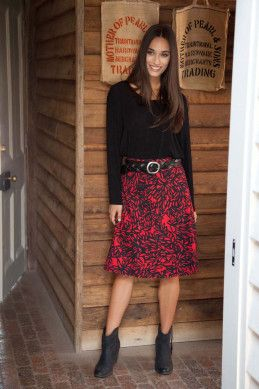 that bird label Adele A Line Skirt - Womens Knee Length Skirts - Birdsnest Online Shop