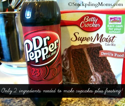 Dr Pepper Chocolate Cupcakes are amazing! Only 3 ingredients needed!