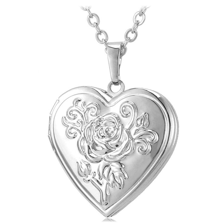 7 best living memory photo locket pendant necklaces images on heart photo floating locket necklace 18k gold plated pendant jewelry for women mozeypictures Images