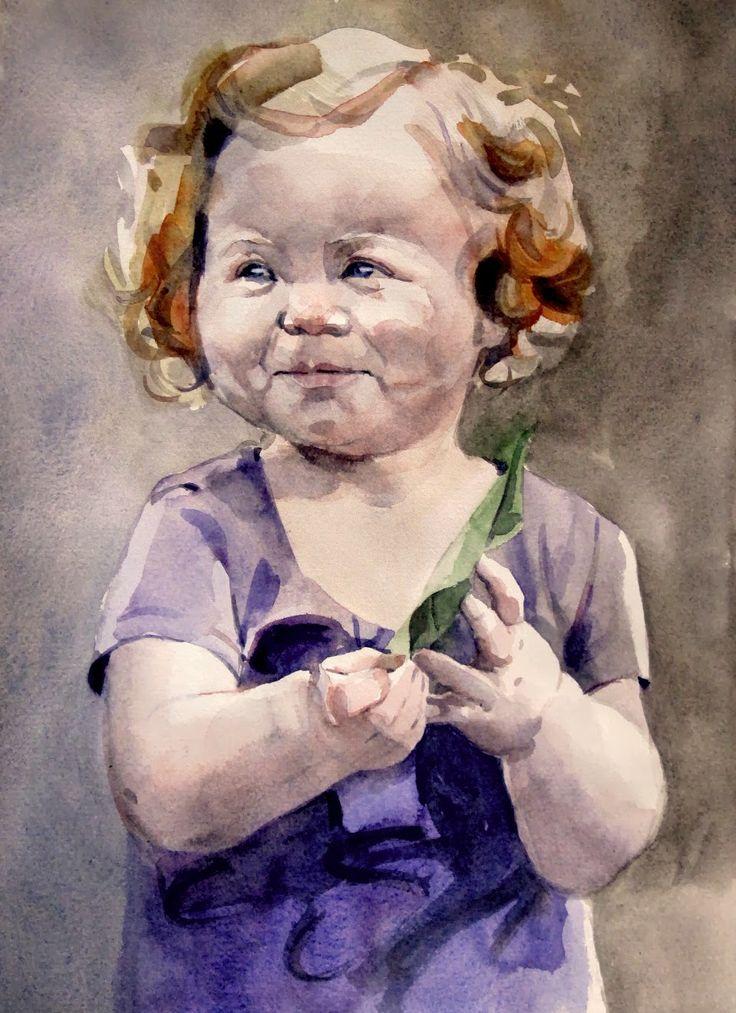 Pintar a la acuarela: NIÑA