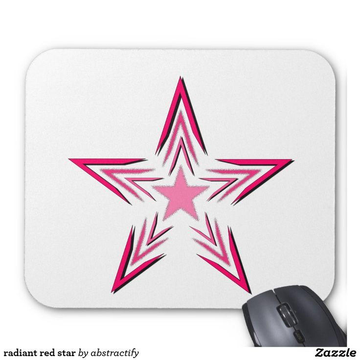 radiant red star mouse pad