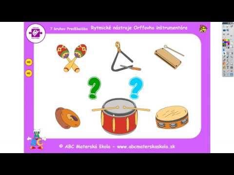 Zvuky rytmických nástrojov - Orffov inštrumentár - YouTube