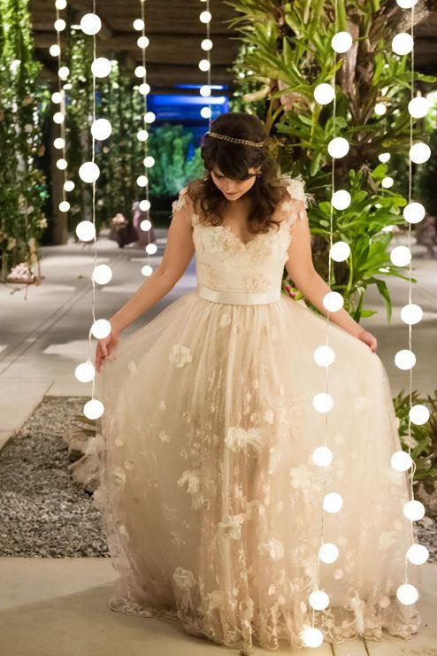 Vestido de noiva vintage por Carol Hungria