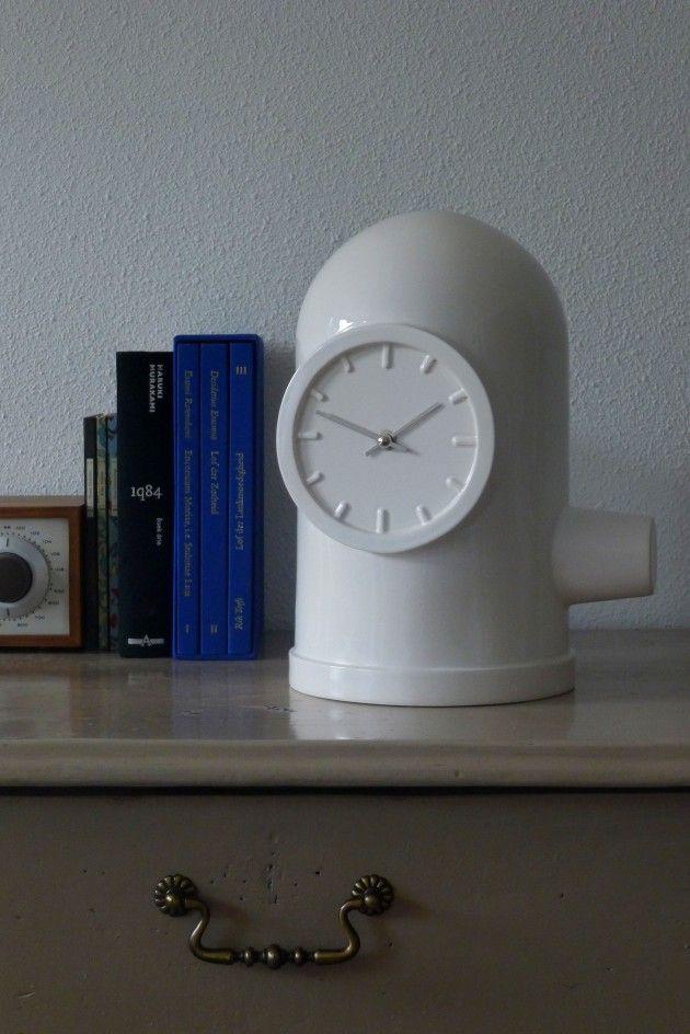 BASE clock by Kranen/Gille for Cor Unum; industrial ceramics
