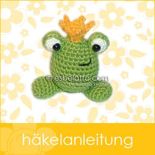 Und hier ist noch ein GESCHENK für Euch!   Ich habe einen kleinen Frosch gemacht - und ihm eine Krone verpasst. Nun ist er also ein Froschkö...
