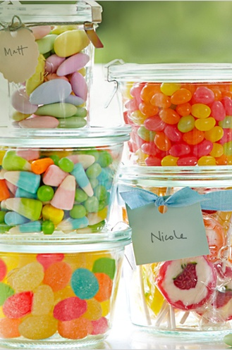 weck jars for candy and gifts