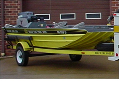Boles fire protection district mo boat 559 559 18 jon for Jon boat with jet motor