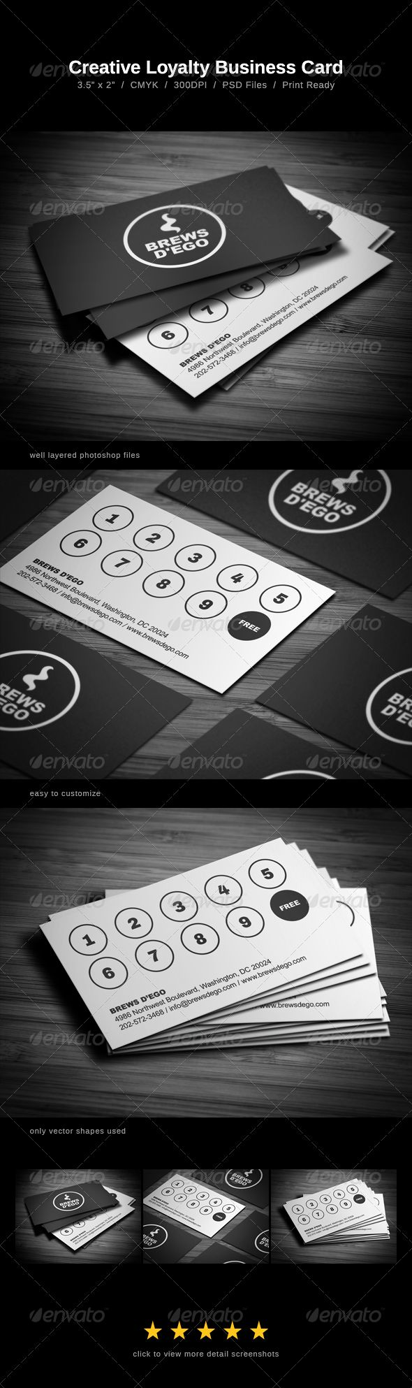 Creative Loyalty Business Card #GraphicRiver Creative Loyalty Business Card comes with a normal colored background, and can be used for almost any kind of company / shop, or even personal use. The card comes in one color