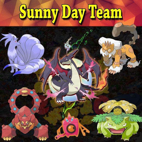 Pokemon Guide - Shiny 6 IV - Sunny Day Team -Pentagon- ORAS XY