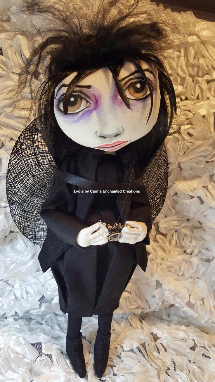 Lydia . Beetlejuice . by Carma Enchanted dolls . international art doll registered .