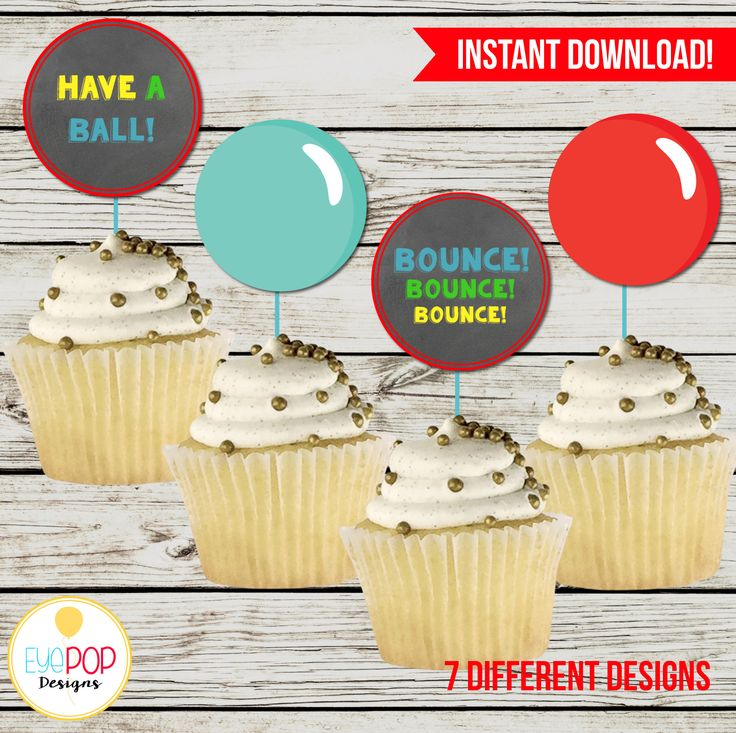 BOUNCE HOUSE Cupcake Toppers, Jumping Birthday Party, Jump Party, Colorful, Chalkboard, Printable, Instant Download