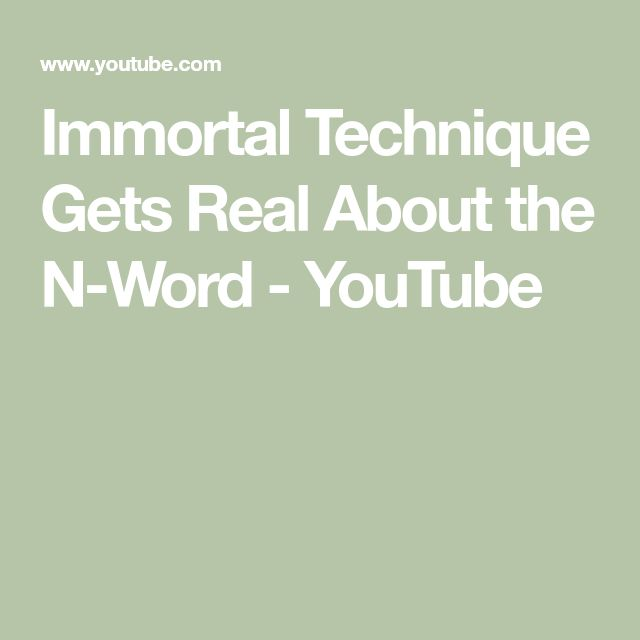 Immortal Technique Gets Real About the N-Word - YouTube