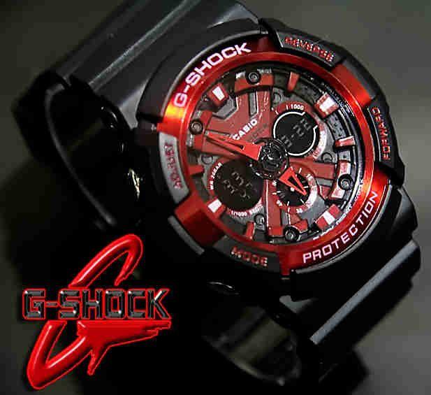 CASIO G-SHOCK GA200X (Code: 4OS153;@180.000) Jam Tangan Pria. Kombinasi Analog Digital. Mesin Batere. Black Red Band. Membuat penampilan ANDA tampak semakin energik, elegan, fashionable, dan berkelas. SMS: 08531 784 7777 PIN: 331E1C6F www.butikfashionmurah.com