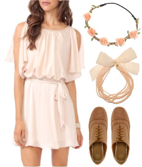 "Fashion Inspiration: American Girl Doll Kirsten. ""Blush Pink Birthday"" > Dress – Forever21, Shoes – ASOS, Necklace – Forever21, Headband – Rokit"