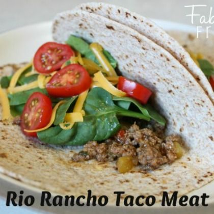 {Freezer to Slow Cooker or Oven} Rio Rancho Taco Meat - March 2014