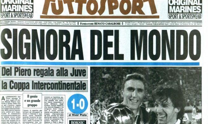 Rivivi Con Tuttosport La Juventus Intercontinentale