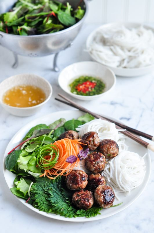Bun Cha - Vietnamese Pork Meatballs with Vermicelli Noodle Salad – Eat, Little Bird