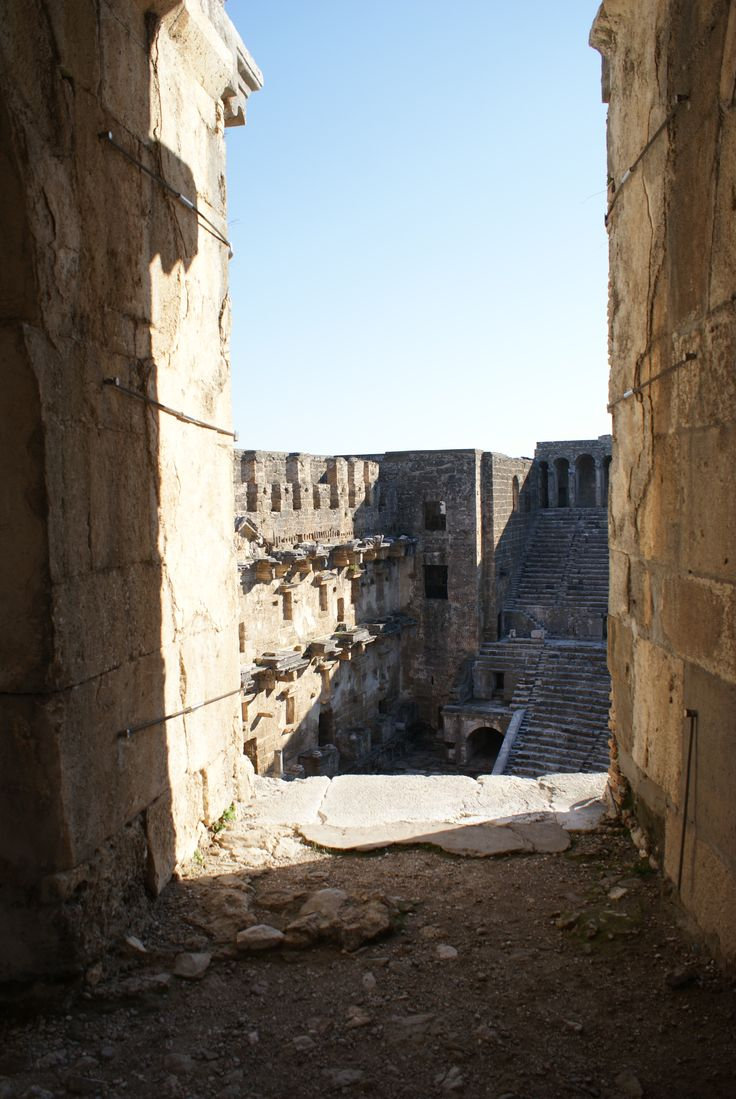 The ancient city of Aspendos (modern city of Belkis, ancient city of Pamphylia) is located on Turkey's southern Mediterranean coast forty-seven kilometers from the modern city of Antalya. Its spectacularly well-preserved theatre is one of the best examples of Roman theatre construction in the world.