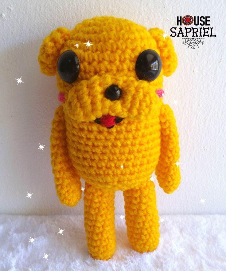 Amigurumi Jake ,jake,kawaii amigurumi ,adventure time amigurumi,adventure time ,crochet lover,crochet, by HousesaprielShop on Etsy