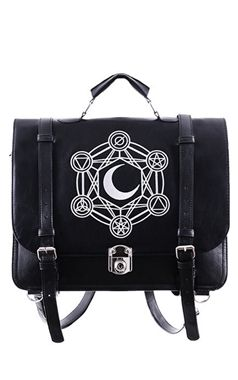 Restyle Gothic Moon Messenger Bag