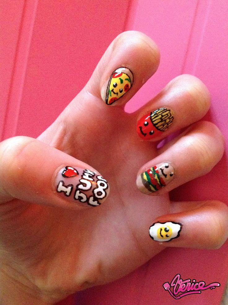 9 Best Images About Junk Food Nails On Pinterest