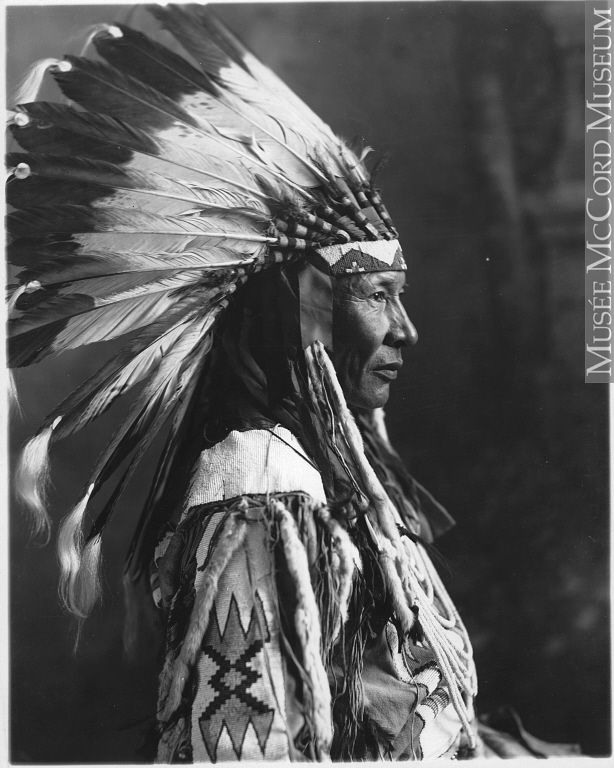 Chief Duck, Blackfoot, Calgary, AB, about 1925