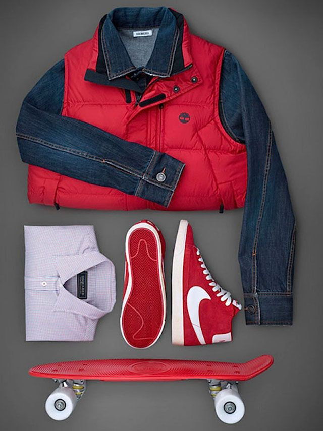 """Candice Milon's photo from the series """"Famous Movies Outfits"""", featuring Marty McFly's outfit from Back to the Future, 1985"""