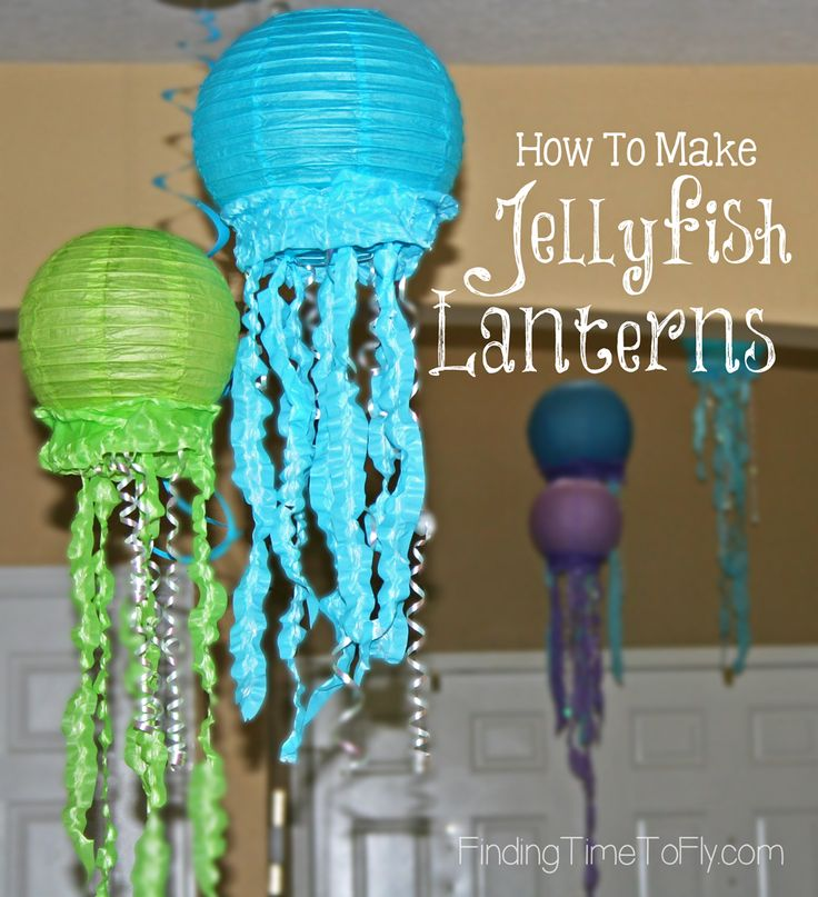 How to make Jellyfish Lanterns. Step-by-step tutorial with pics.