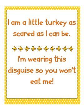 TURKEY DRESSING: TURKEY IN DISGUISE WRITING CRAFTIVITY {FREEBIE} - TeachersPayTeachers.com